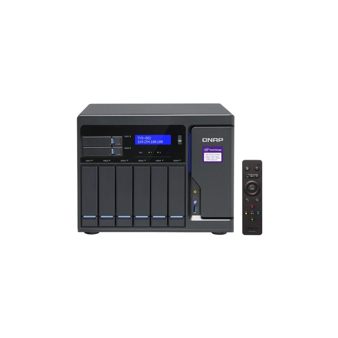 ذخیره ساز NAS کیونپ مدل TVS-882-I3-8G