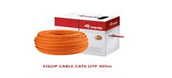 کابل شبکه Cat.6 U/UTP اکوئیپ مدل 401463